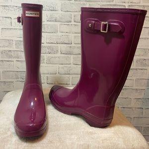 Rare purple Hunter rain boots.